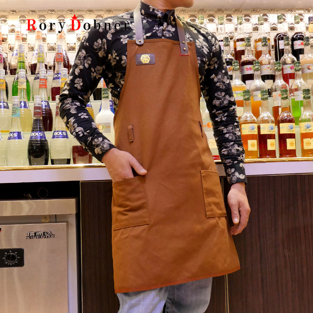 Apron Bartender Bar Western Work Apron Logo Custom Waiter Working Cowboy Canvas Kitchen Home Bartender Apron G577 Home Textile Power Source