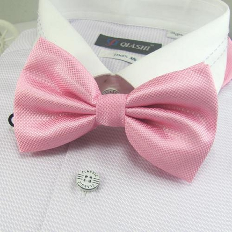 HOOYI Fashion Polyester Mens Bowties 2019 Pink Butterfly Neck Ties Gifts For Men