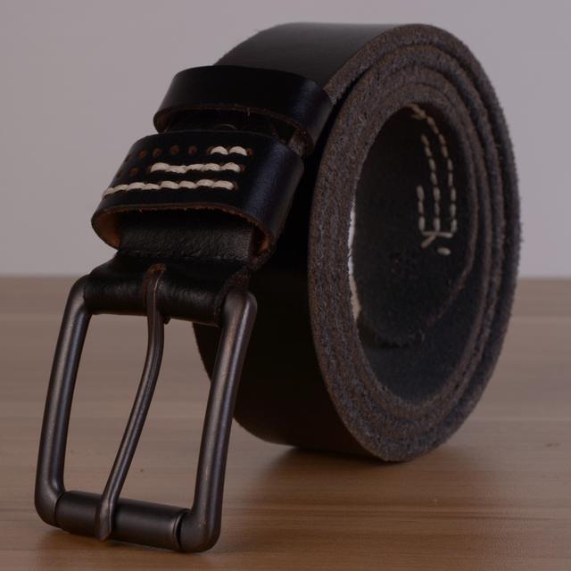 Frete grátis Retail Design original 100% couro genuíno Belt Top qualidade garantida moda masculina couro do couro do Vintage cinto