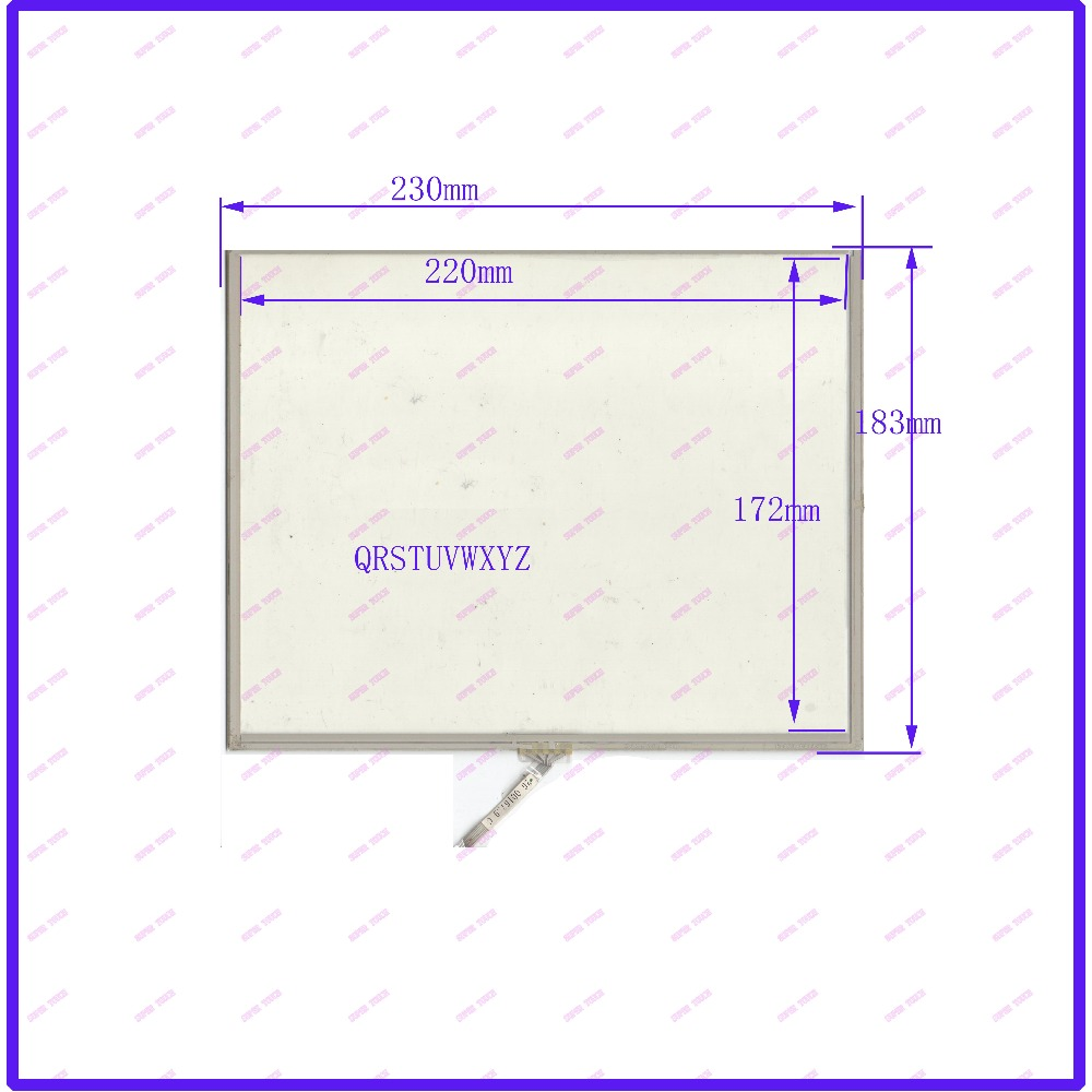 ZhiYuSun 230mm*183mm 11 Inch 4 wire resistive USB touch panel overlay kit  Free Shipping NLX0100 0301R STUVWXYZ 19 inch infrared multi touch screen overlay kit 2 points 19 ir touch frame