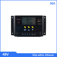 LCD Display Smart 30A Solar Charge Controller / 48V Charge Regulator / Solar Charger 48V With LCD Screen for Lead acid Battery