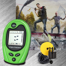 Free Shipping! LUCKY FF818 Portable Fish Finder Sonar Sounder Alarm Fishfinder 100m fishing echo sounder portable fish finder