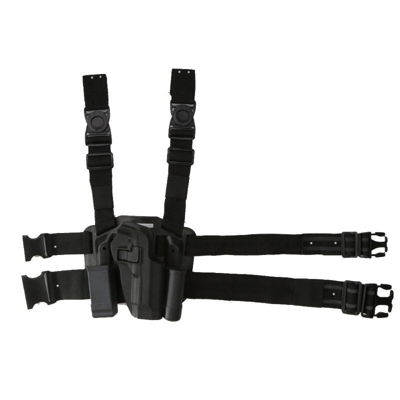 1 piezas mano derecha pistolera táctica Paddle muslo cinturón gota pistola para pistola Beretta antorcha de revista para Glock m9 M92