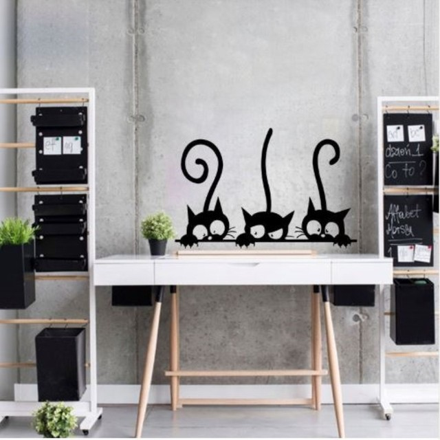 Three Black Cats 30*20CM 6