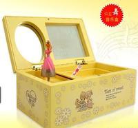 Music box Поворот балет девушка музыкальные шкатулки косметическое зеркало на цепь, чтобы получить ювелирные изделия 725015