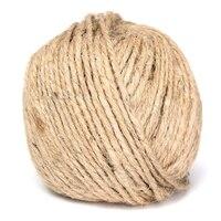 СЗС Горячая 3 мм Толстый коричневый деревенский шпагат Гессе шнур веревка для рук craft 250 м