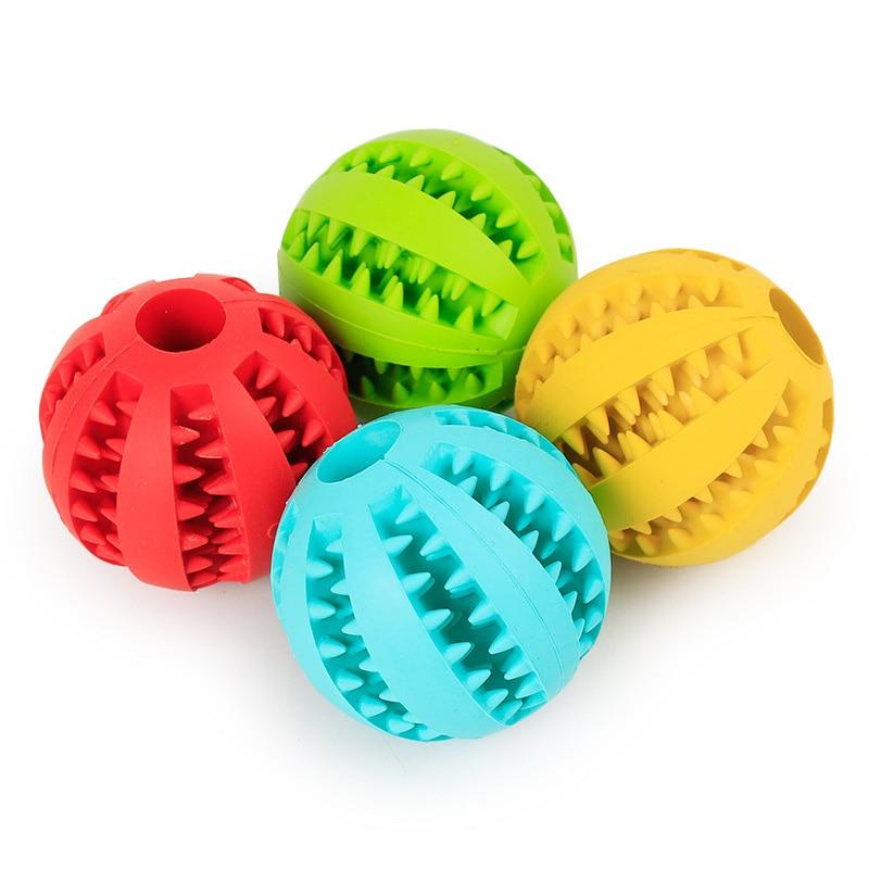 Мягкие игрушки для собак, Забавный интерактивный эластичный шарик, игрушка для жевания собак, мяч для чистки зубов, очень жесткий резиновый мяч для собак-4