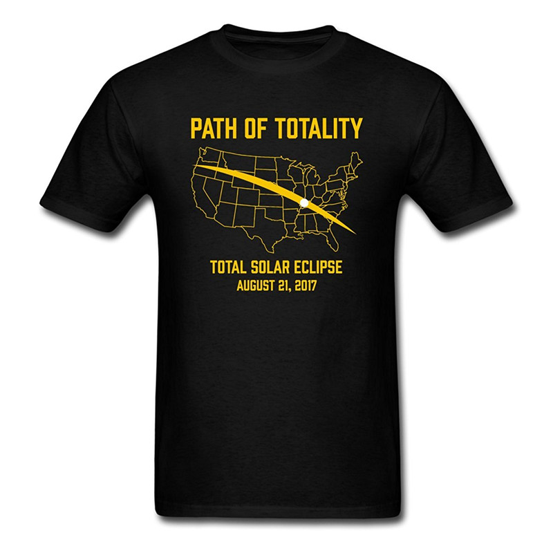 T Shirt Websites Short Sleeve Gift Path Of Totality Total Solar Eclipse MenS Crew Neck Shirts For Men