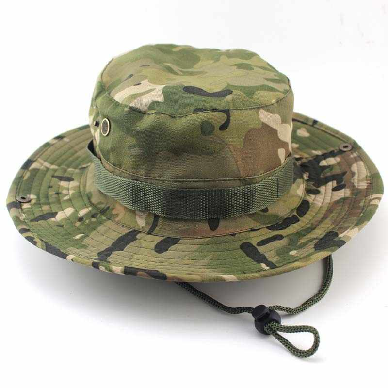 Bonnie Hats Tactical Military Caps Men for Men Bucket Hats Camouflage Gorras Hunter Fisher Man Sun Visor Caps Real CS Hat