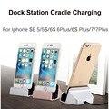 Suporte de Carregamento Docking Station Cradle Carregador da Sincronização de Dados Cabo USB dock para iphone 7 6 6 s plus se 5 5S 5C