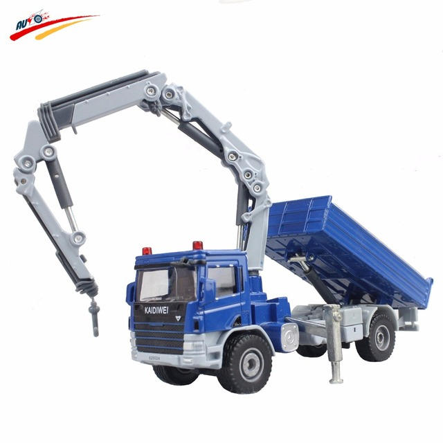 KDW Alloy 1:50 Atego With Crane Truck Diecast Model Telescopic Crane Support Leg