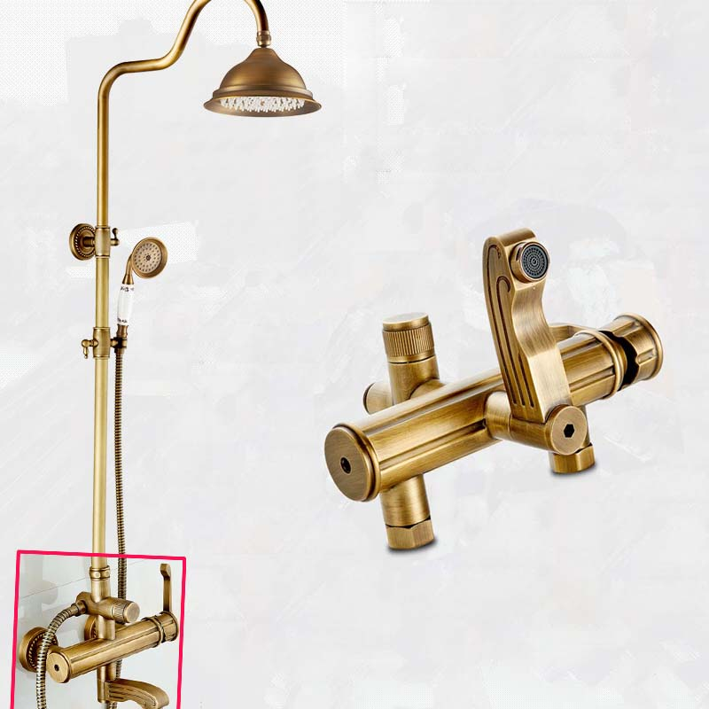 Good Quality Antique Brass Shower Faucet Mixers In Wall