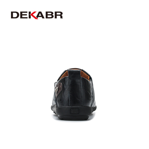 Image 3 - DEAKBR Breathable Genuine Leather Loafers Men Casual Shoes High Quality Adult Slip on Moccasins Men Sneakers Male Footwear 46