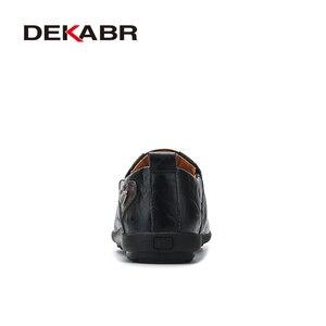 Image 3 - Deakbr respirável mocassins de couro genuíno dos homens sapatos casuais de alta qualidade adulto deslizamento em mocassins tênis masculino 46