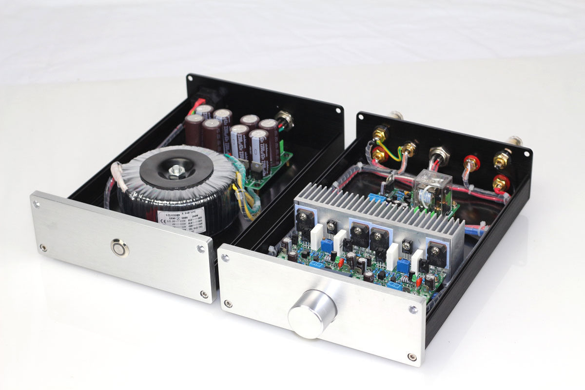 ZEROZONE HIFI Split NAP250 MOD Stereo Power Amplifier 80W+80W Desktop Amp + PSU L8-8