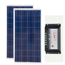Zonnepaneel 12v 150w 2 Pcs Polycrystalline Kit Solar Panel 300w Charge Controller 12v/24v 30A Motorhome Caravan Car Camp