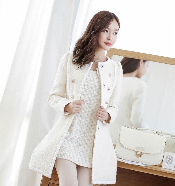 new Long Autumn Winter Coat Women Wool Blends Coats Female Jacket Winter Woman Coat Warm Windbreaker Abrigos Mujer Wool Women 3