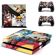 HOMEREALLY Stickers PS4 Skin Anime One Piece Sticker for Sony Playstation 4 Controller and Console Accessory