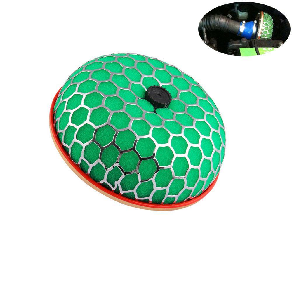 80 ミリメートル高強度緑赤エアフィルター 100 ミリメートルラウンドキノコデザインエアフィルター車吸気流クリーナー供給エアフィルター