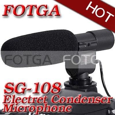 Pro DV microphone stéréo mic uni-direction pour Canon 500d 600d 5dII 1 dIII 50D 60D Nikon D90 D3000 D7000 DSLR DV DC Caméra