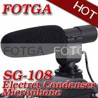 Pro DV stereo microphone mic uni-direction for Canon 500d 600d 5dII 1dIII 50D 60D Nikon D90 D3000 D7000 DSLR DV DC Camera