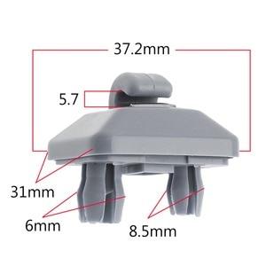 Image 4 - Beige Inner Sun Visor Hook Clip Bracket Hanger For Audi A1 A3 A4 A5 Q3 Q5