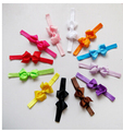 2pcs Hot Sale Baby Girl Kid Headband Bow Ribbon Elastic Flower Hairband 12 Colors Drop Shipping