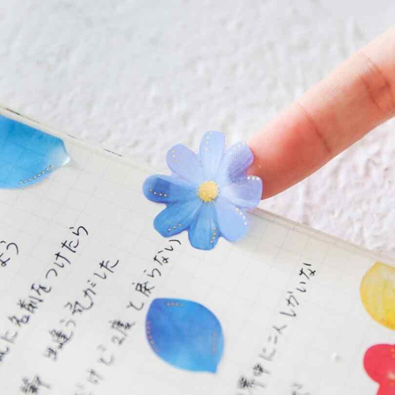 40 шт. Творческий бантом аромат-бутылки наклейки цветы лепесток Сакура декоративные наклейки Скрапбукинг DIY дневник альбом лейбле палки