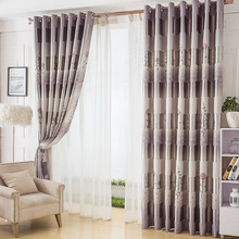 Curtains for Living dining room bedroom 2016 new curtain double side printing living room bedroom full shade curtain finished E