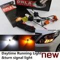 Cheetah for TOYOTA ALPHARD VOXY HARRIER LED DRL LED Daytime Running Light & turn signal light all in one high power