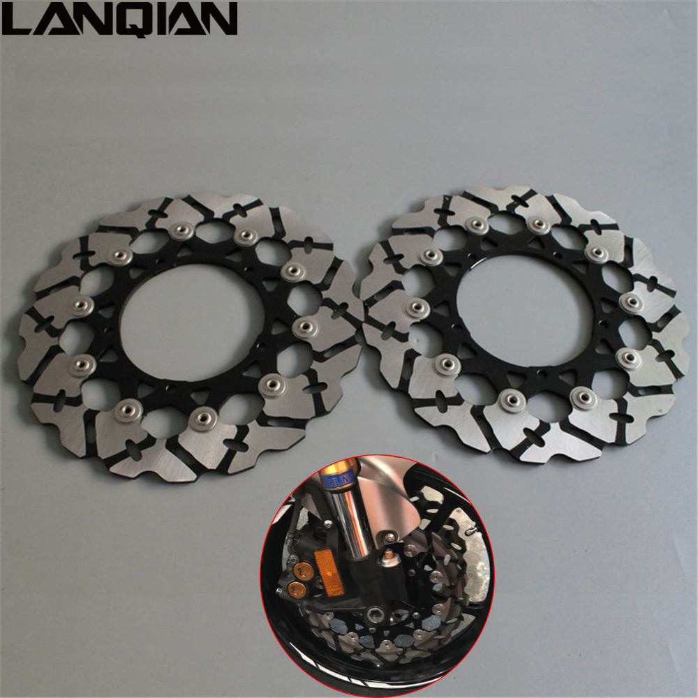 high quality Motorcycle accessories front Brake Disc Rotor For YAMAHA YZF R6 2005 2006 2007 2008 2009 2010 2011 2012 2013 YZF-R6 new brand motorcycle accessories gold front brake discs rotor for suzuki gsxr1000 2005 2006 2007 2008