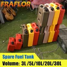 Jerrycan-tanque de combustible diésel de 3L, 5L, 6L, 10L, rojo, negro y verde, contenedor de repuesto de Gas antiestático Jerry Can Polaris