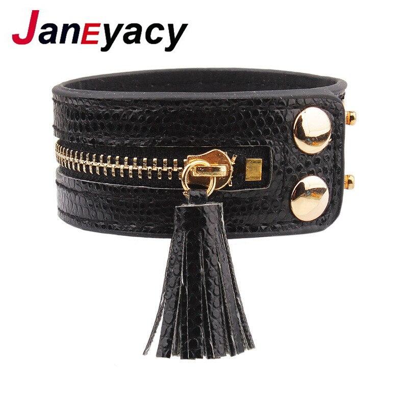 Купить браслеты и браслеты janeyacy кожаные на молнии модные женские