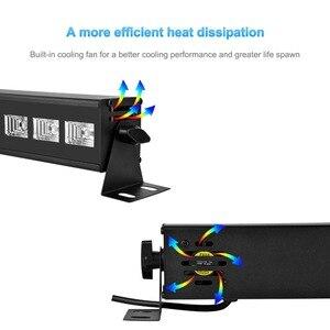 Image 3 - 6LED 9LED 12LED ديسكو UV الأسود أضواء DJ 36 W الاسمية مصباح الأشعة فوق البنفسجية حزب عيد الميلاد شريط ضوء الليزر ضوء المرحلة الأشعة فوق البنفسجية الجدار غسالة الضوء