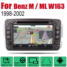 For Mercedes Benz M / ML W163 1998~2002 NTG Car Android Player GPS Navigation System Screen Radio Stereo Integrated Multimedia