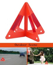 Car triangle warning signs Reflective trouble light Roads emergency tripod