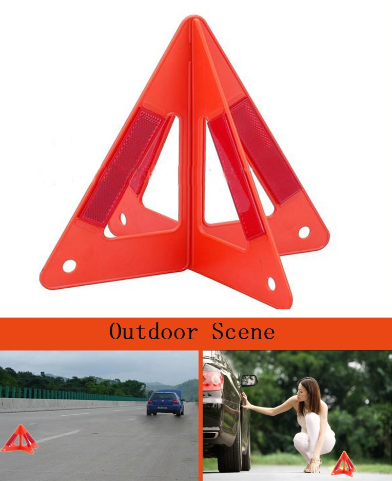 Car triangle warning signs Reflective trouble light Roads emergency tripod car emergency breakdown warning triangle red reflective safety hazard travel kit