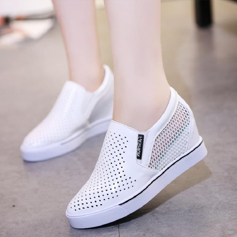 blanc Mode Pour Dames D'été Non De Femmes Aa10218 glissement Nouveau Appartements Noir Respirant Chaussures Fond Épais xXUZnqH