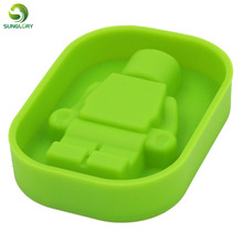 Silicone Robot Ice Mold Cream Tools Color Green Tubs Cake