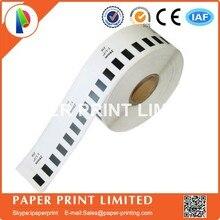 8 сменных рулонов совместимы DK-22210 этикеткой 29 мм* 30,48 м Непрерывная Совместимость для устройство для печатания этикеток белая бумага DK22210 DK-2210