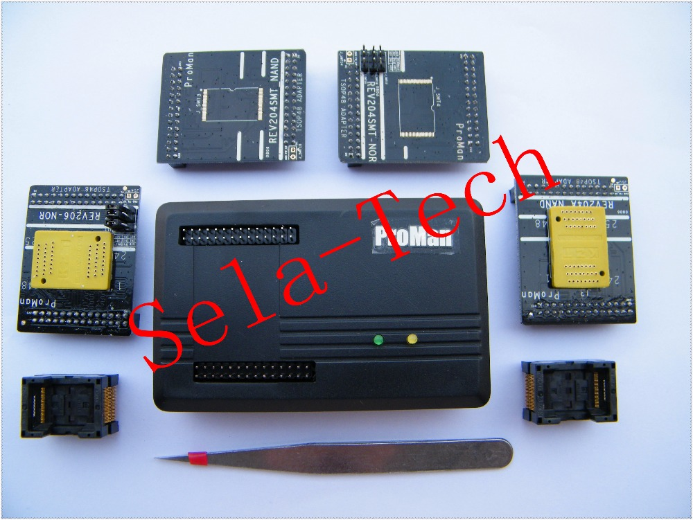 Free shipping 2018 NAND ProMan Professional flash programmer repair tool copy NAND FLASH data recovery, high programming speed new arrival proman programmer nand flash chip for nand nor tsop48 tsop56 bga63 bga64 bga107 bga130 program with related adapters