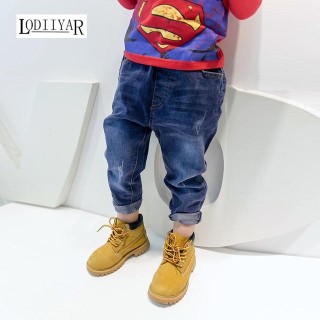 Kids Children Pants, 2017 Big Boy New Korean Casual Trouser Boy Jeans Pants, Autumn Winter Baby Boys Clothes Children's Clothing