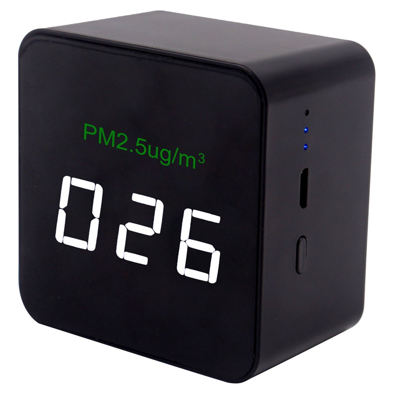 TOP Mini Pm2.5 Detector Air Quality Tester Monitor Meter Rechargeable Air Detector