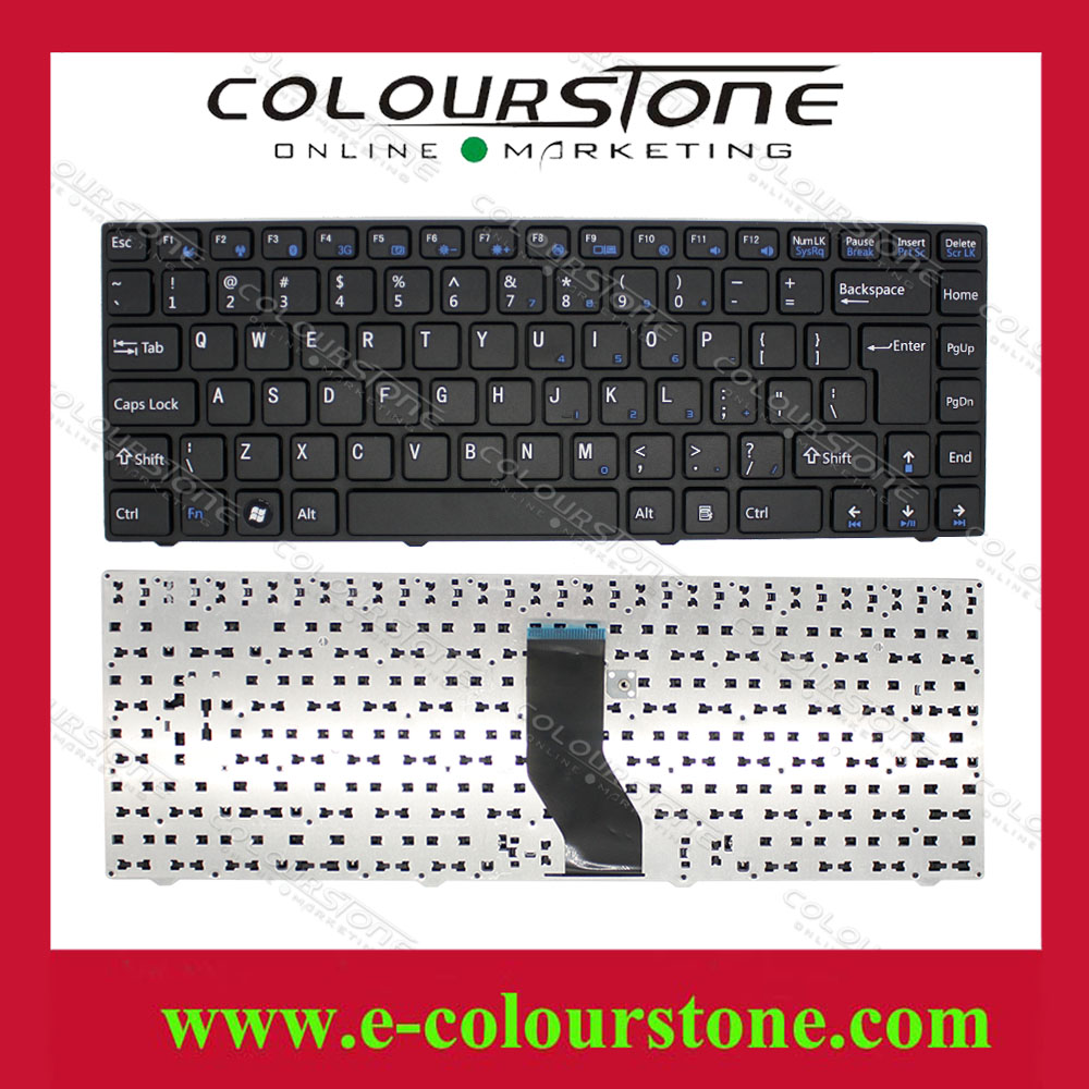 US Layout For DNS 14 Keyboard 156834 156837 161505 156827 156828 156832 black US laptop keyboard with frame