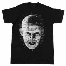Hellraiser – Movie Pinhead Up-Close Black T-shirt – BRAND NEW O-Neck Fashion Casual High Quality Print T Shirt Fashion Classic