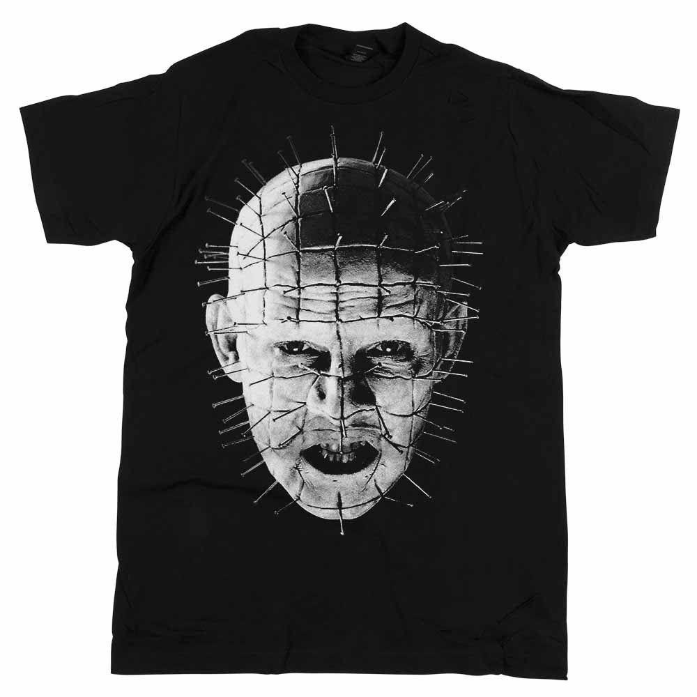 Hellraiser - Movie Pinhead Up-Close Black T-shirt - BRAND NEW O-Neck Fashion Casual High Quality Print T Shirt Fashion Classic