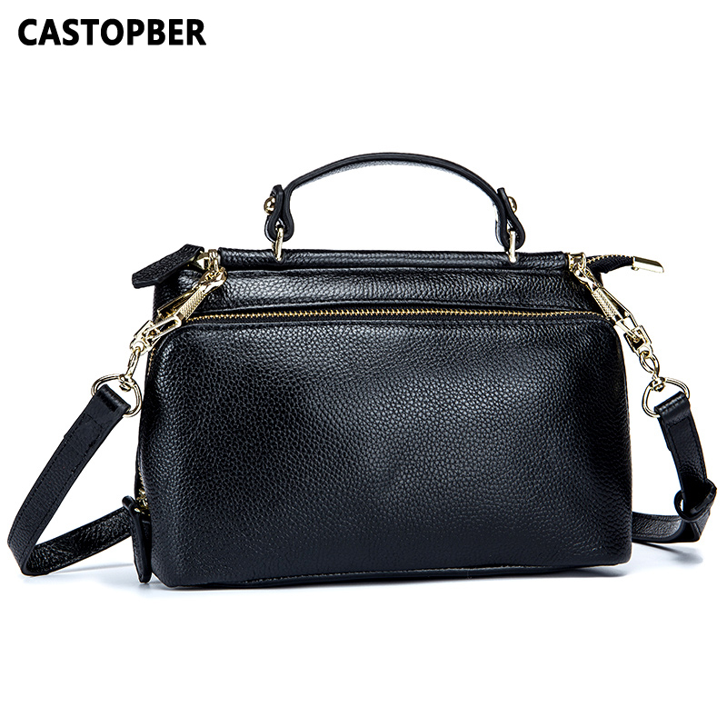 New Arrival Women Messenger Bag Genuine Leather Cowhide Tote Handbags Fashion Designer Crossbody Female Bags Famous Brand Ladies women genuine leather handbags ladies personality new head layer cowhide shoulder messenger bags hand rub color female handbags
