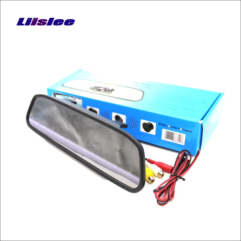 Liislee For Renault Megane II / III / 2 / 3 Rearview Mirror Car Monitor Screen Display / HD TFT LCD NTSC PAL Color TV System 860 576 pixels back up camera for renault megane 3 iii 2008 2016 rearview parking 580 tv lines dynamic guidance tragectory
