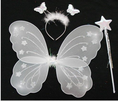 FREE SHIPPING by EMS,children kid butterfly wings set costume fairy wing,crown,wand Angel wing Party costume accessories