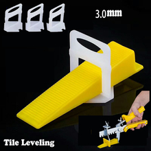 80pc Clips With 40pc Wedges Tile Spacers Leveler Tiling Ceramic Tilers Plumbers 3.0mm Gap Wall Floor D Type Leveling System Tool